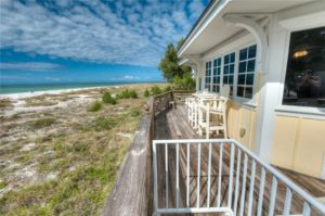 Ocean view from deck of a vacation rental in Anna Maria Island