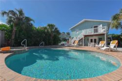 Back yard view of pool at Anna Maria Island vacation rental
