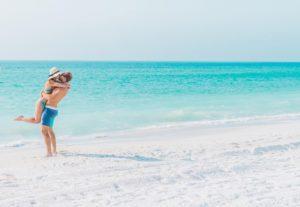 Couple on the beach in Anna Maria Island