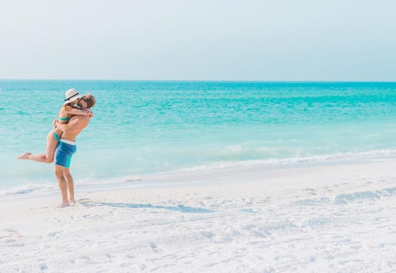 Couple on the beach in Anna Maria Island