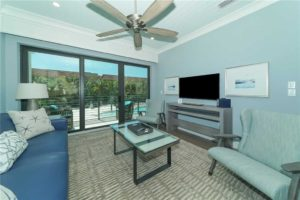 Living room of unit at the Anna Maria Beach Resort
