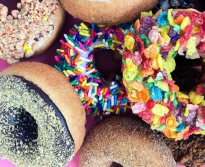 Close up of donuts from The Donut Experiment in Anna Maria Island