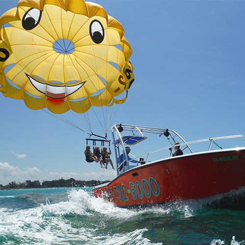 Parasailing in the Gulf of Mexico