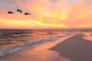 Sunset over Holmes Beach
