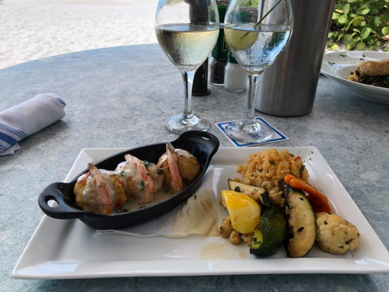 Seafood dish at the sandbar restaurant in Anna Maria Island