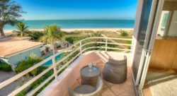 View from balcony of beachfront condo in Anna Maria Island