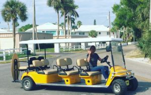 6 and 8 person golf cart rental in anna maria island