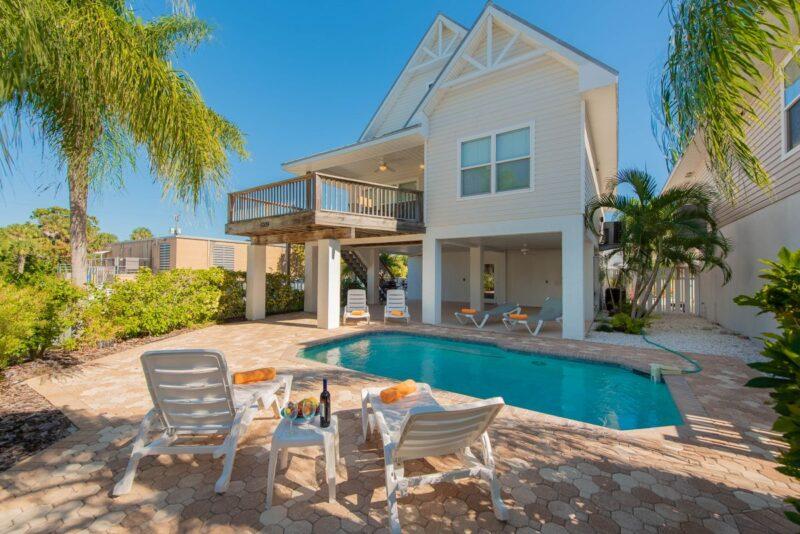 backyard with a pool