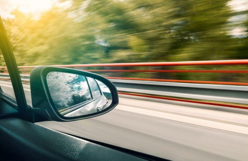 car in movement driving to anna maria island
