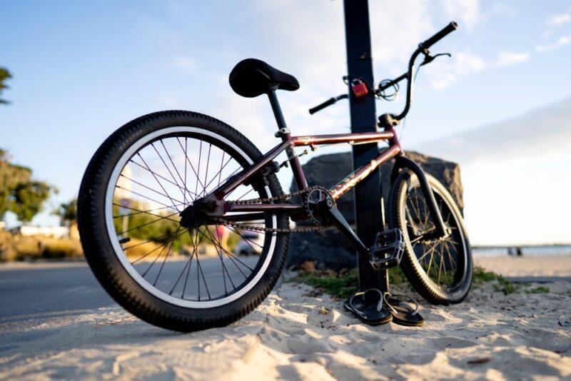 bike on the anna maria island beach