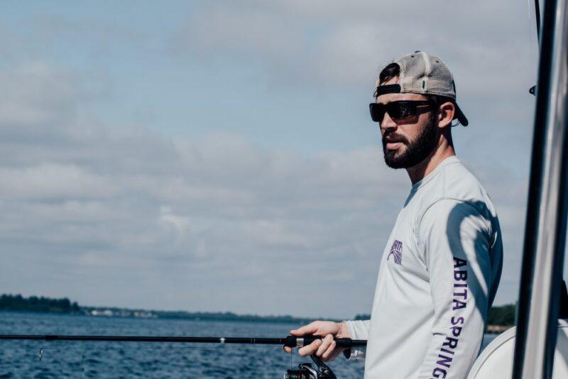 man fishing on anna maria island boat