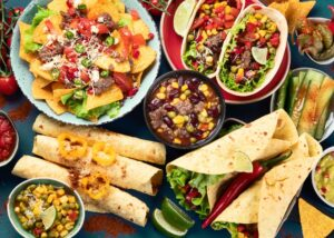 tex mex dishes on a table